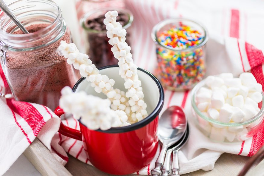 Holiday party ideas: A hot chocolate station