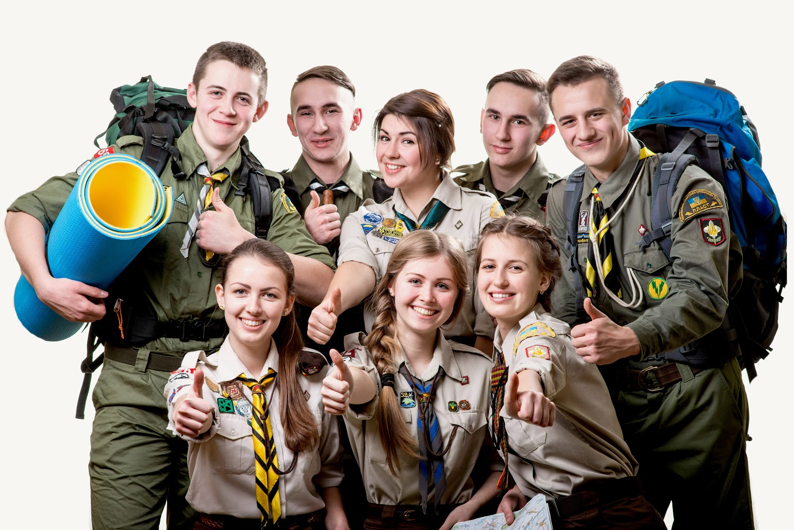Eagle scout members: boys and girls