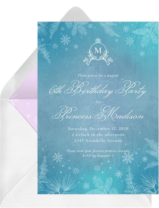 Arctic Princess Invitation