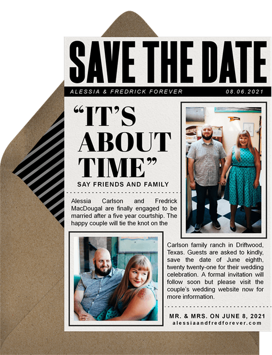 Big News Save the Date template