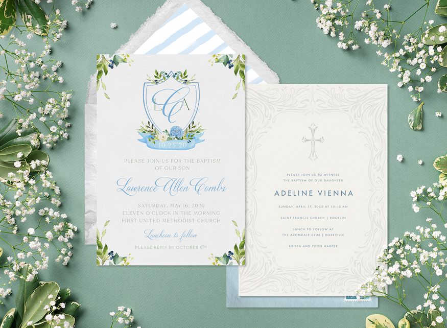 Tips for Writing a Baptism Invitation, Plus 9 Designs You'll Love