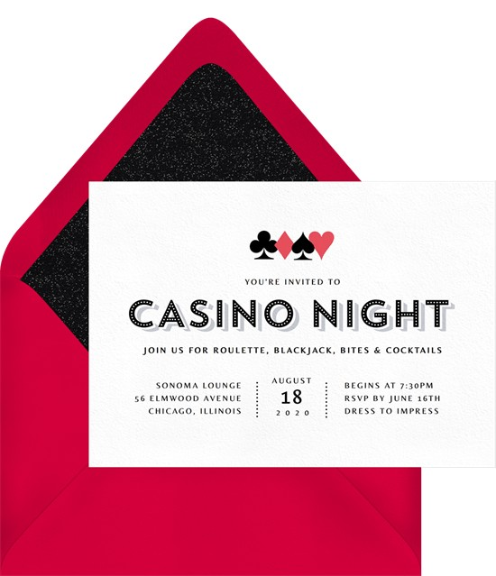 college party themes: Casino Night Invitation by Greenvelope