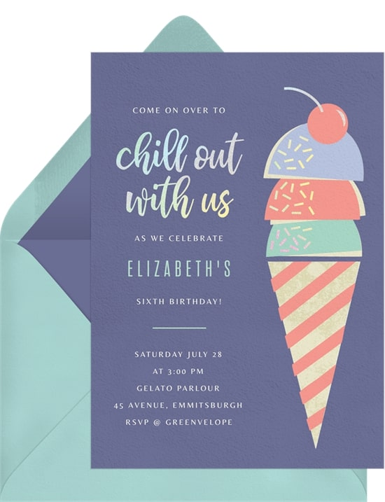 Ice cream party: Chill Out Invitation