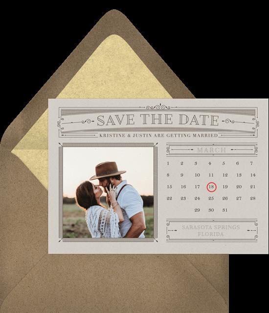 Classic Calendar Save the Date template