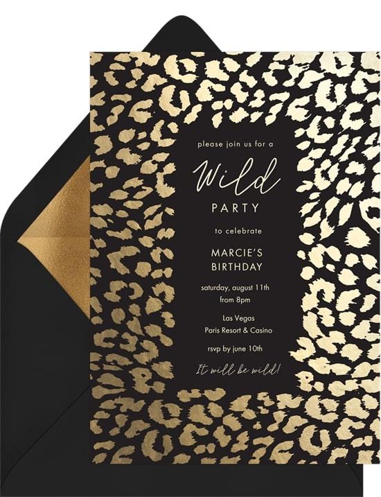Classic Cheetah Print Invitation