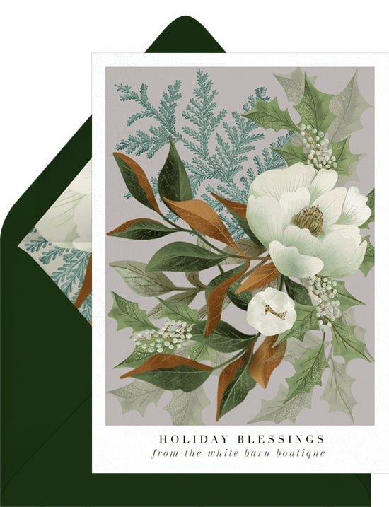 Holiday greetings: Classic Magnolias Card