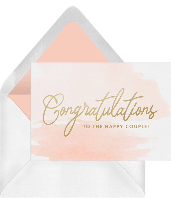 Wishing you the best: Congratulations to the Happy Couple card
