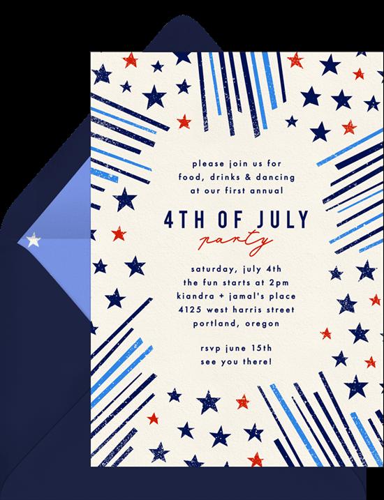 4th of July party ideas: DIY cornhole invitation from Greenvelope
