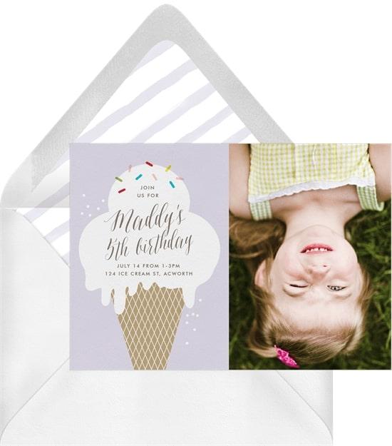 Ice cream party: Drippy Ice Cream Invitation