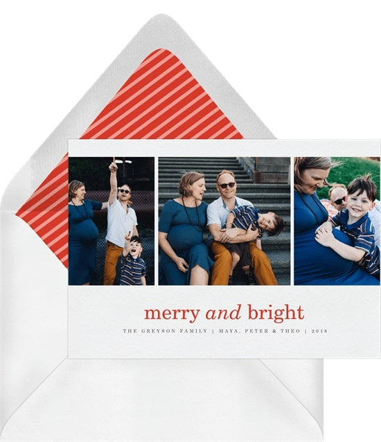 Photo holiday cards: Feature Frame Card