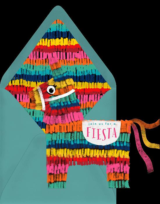 Taco party ideas: Festive Piñata Invitation