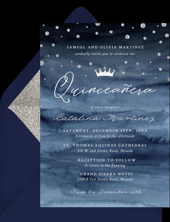 For a Princess Quinceanera Invitation