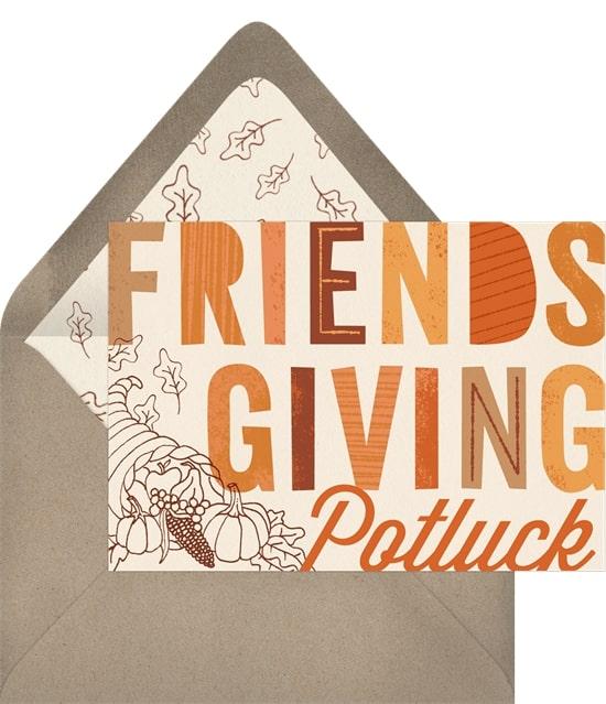Friendsgiving Invitations