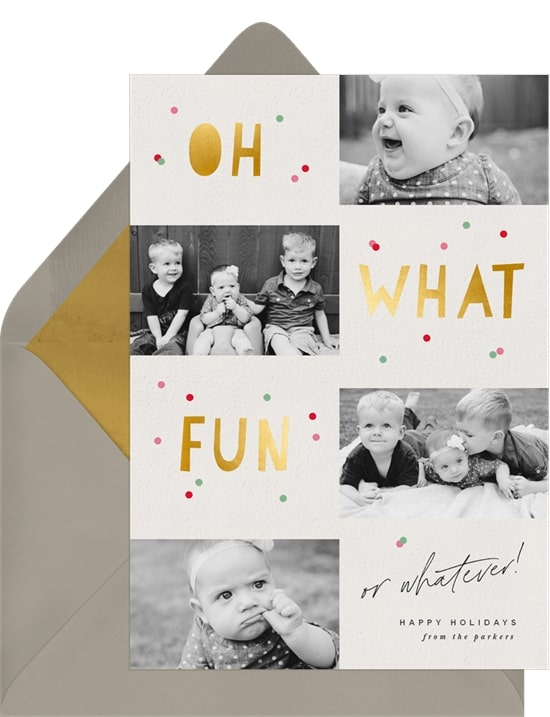 Photo holiday cards: Fun Or Whatever Card
