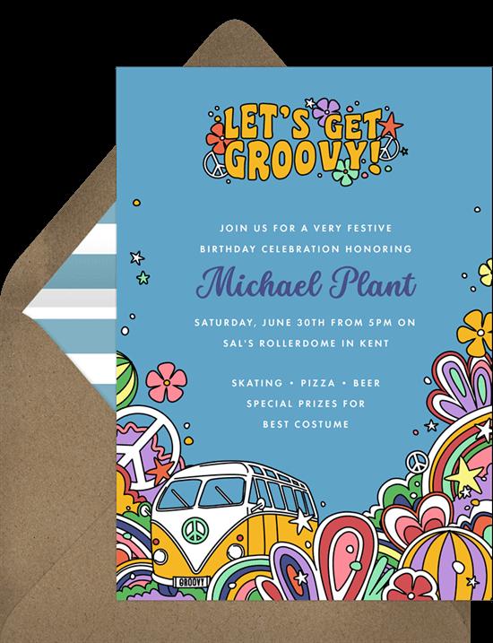 Get Groovy Invitation