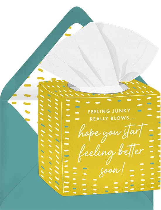 Wishing you the best: Get Well Soon card