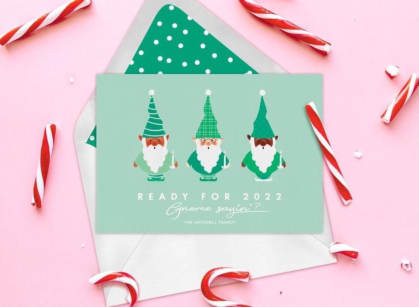 Funny Christmas cards: Gnome Sayin' Card