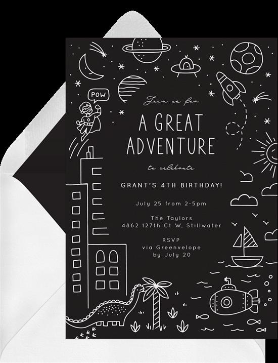 Great Adventure Invitation