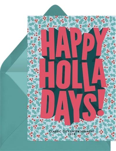 Happy Holla Days Card
