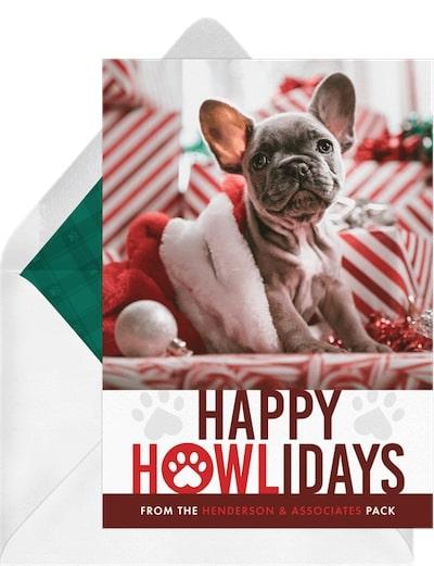 Funny Christmas cards: Howlidays Card