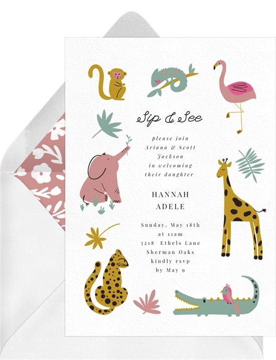 Jungle Friends Invitation