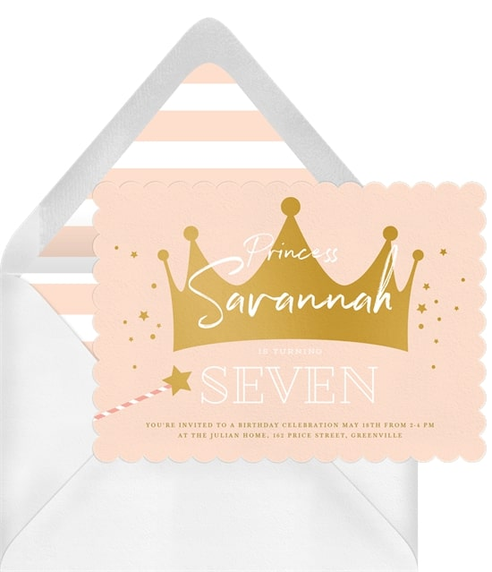 Princess party ideas: Magical Princess Party Invitation
