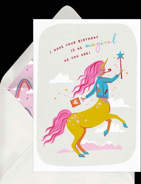 Magical birthday card