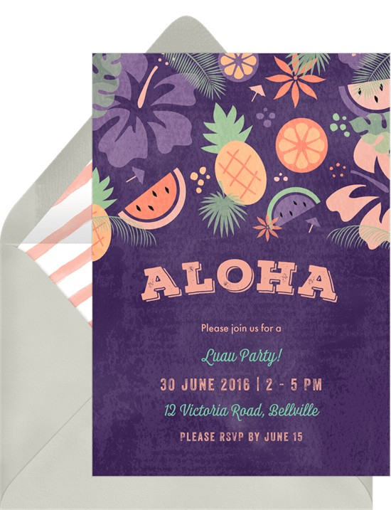 college party themes: Maui Wowee Invitation by Greenvelope