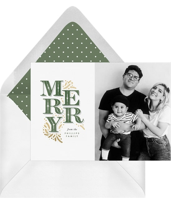 Merry Branches Card