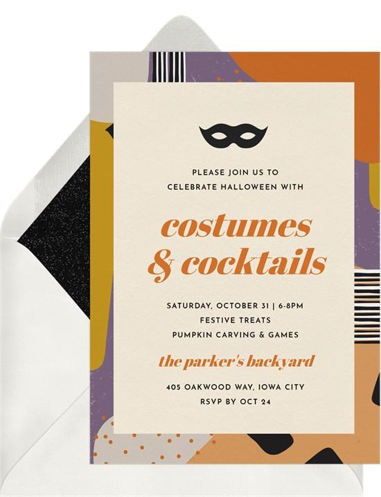 Mod Halloween Invitation by Greenvelope