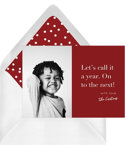 Funny Christmas cards: Move On Card