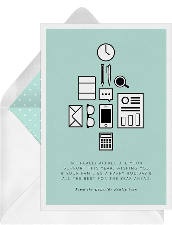 Holiday greetings: Office Supplies Card