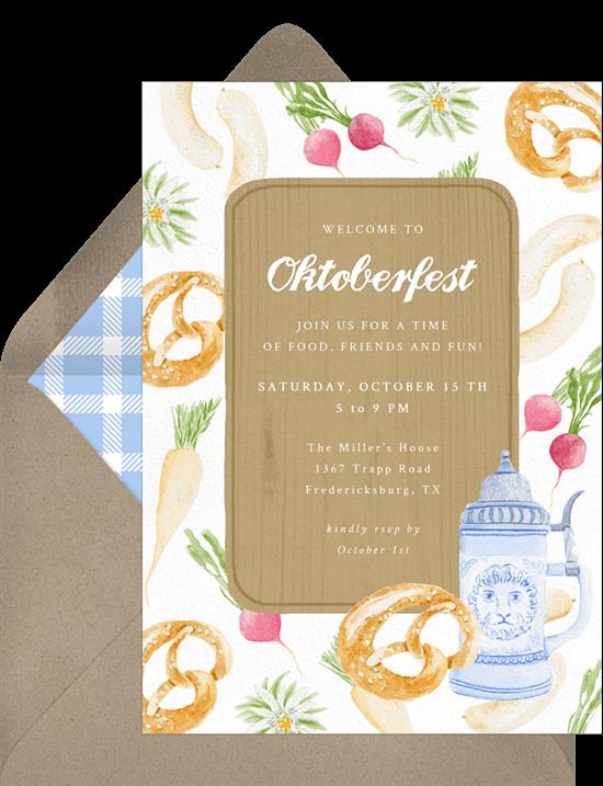 Fall birthday party ideas: Oktoberfest Classics Invitation