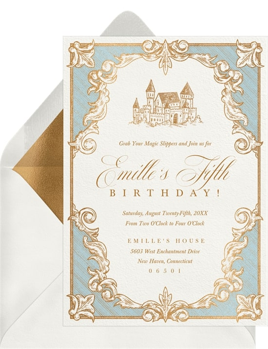 Princess party ideas: Once Upon A Time Invitation