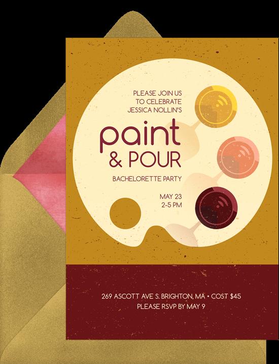 Paint party ideas: Paint & Pour Invitation