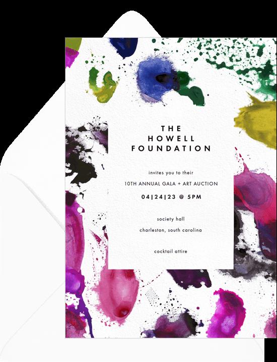 Paint Splattered Surface Invitation