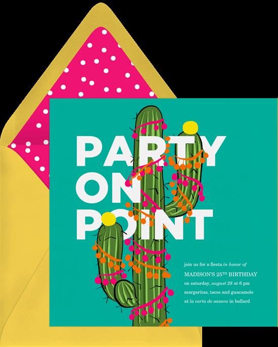 Birthday invitations templates: Party on Point Birthday Invitation