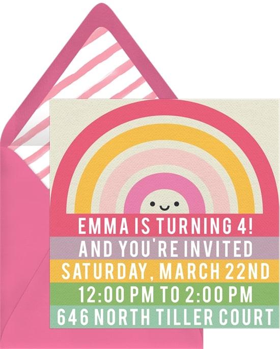 Rainbow Rows Invitation