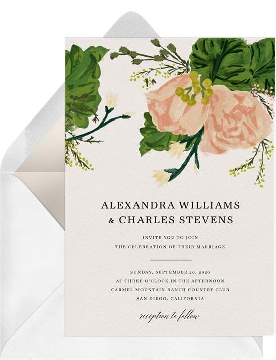 Rustic Bouquet Invitation