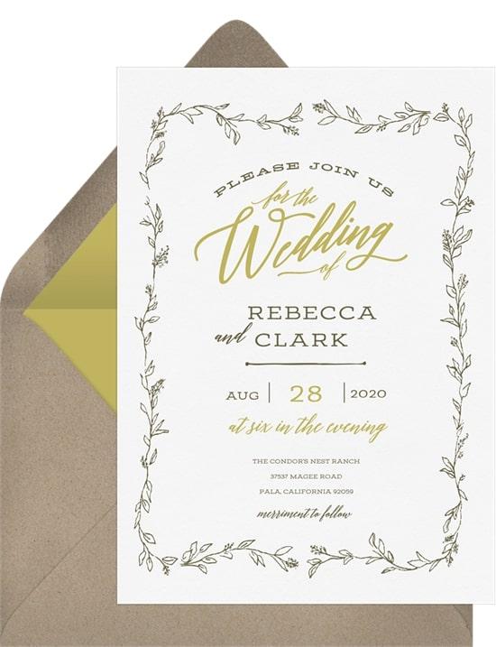 Rustic Vines Invitation