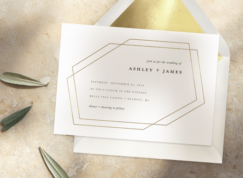 Simple Wedding Invitations That Will Make You A Minimalist Stationers