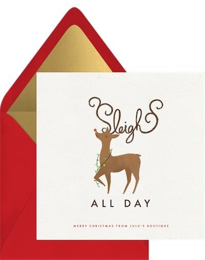 Sleigh All Day Card