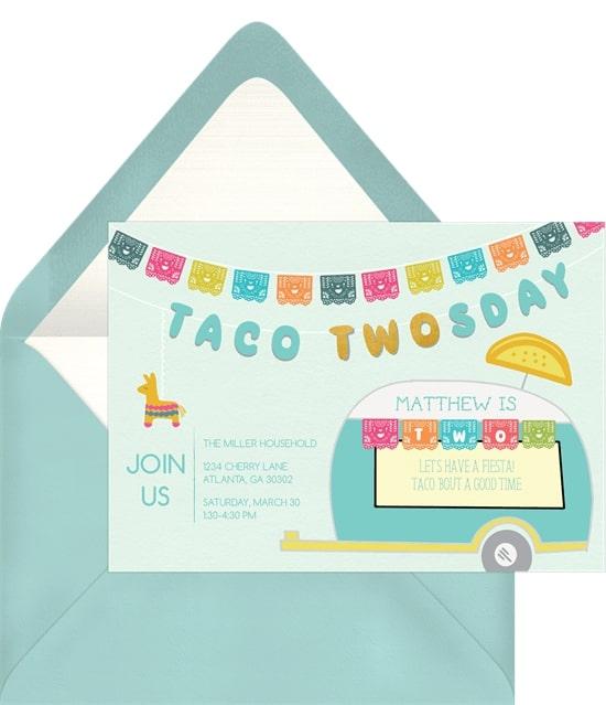 Taco Twosday Invitation