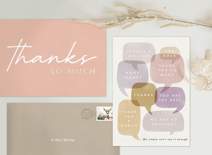 Thank You Card for Teacher with different examples of how to say Thank You