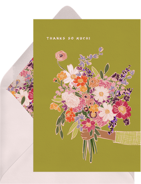 thank you card for teacher: Say It With Flowers Card by Greenvelope