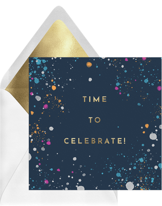 Wishing you the best: Time to Celebrate card