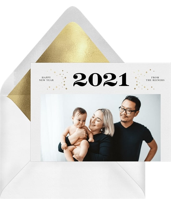 Photo holiday cards: Twinkling Lights Card