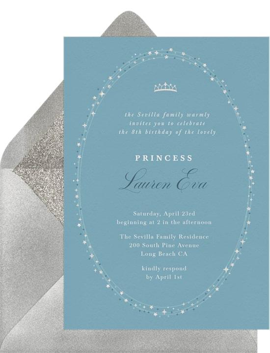Twinkly Tiara Invitation