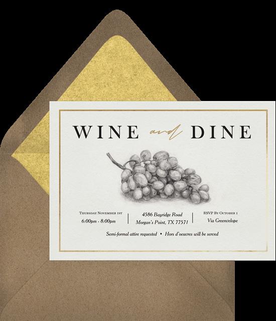 Vineyard Classic Invitation