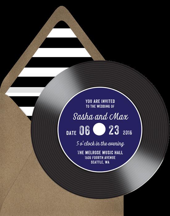 Vintage Vinyl Invitation